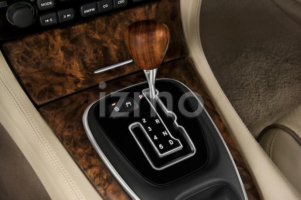 Gear shift detail of a 2008 Jaguar XJ Sedan