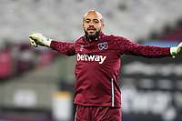Darren Randolph warms up during West Ham United vs Aston Villa, Premier League Football at The London Stadium on 30th November 2020