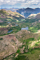 Mountain lakes, Hinsdale County, Gunnison National Forest, Colorado.  Near Niagra Peak.  July 2013. 80425