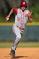 Indiana Hoosiers first baseman Luke Miller (32) during a game against the Illinois State Redbirds on March 4, 2016 at North Charlotte Regional Park in Port Charlotte, Florida.  Indiana defeated Illinois State 14-1.  (Mike Janes/Four Seam Images)
