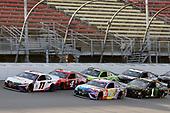 #11: Denny Hamlin, Joe Gibbs Racing, Toyota Camry FedEx Ground and #18: Kyle Busch, Joe Gibbs Racing, Toyota Camry M&M's Fudge Brownie