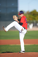 Andres Rivera (53), from Pasadena, California, while playing for the Red Sox during the Under Armour Baseball Factory Recruiting Classic at Gene Autry Park on December 30, 2017 in Mesa, Arizona. (Zachary Lucy/Four Seam Images)