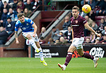 St Johnstone v Hearts…29.09.18…   Tynecastle     SPFL<br />Matty Kennedy shoots over the bar<br />Picture by Graeme Hart. <br />Copyright Perthshire Picture Agency<br />Tel: 01738 623350  Mobile: 07990 594431