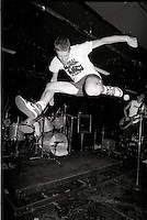 Montreal, Quebec - Punk band Alternative Inuits perform at Foufounes Electriques, July 2, 1987.<br /> <br /> Photo : Agence Quebec Presse - PIerre Roussel