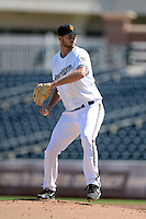 Surprise Saguaros pitcher Taylor Jungmann (49), of the Milwaukee Brewers organization, during an Arizona Fall League game against the Salt River Rafters on October 14, 2013 at Surprise Stadium in Surprise, Arizona.  Salt River defeated Surprise 3-2.  (Mike Janes/Four Seam Images)