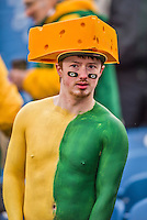 14 December 2014: A Green Bay Packers fan awaits the start of play against the Buffalo Bills at Ralph Wilson Stadium in Orchard Park, NY. The Bills defeated the Packers 21-13, keeping their 2014 playoff hopes alive. Mandatory Credit: Ed Wolfstein Photo *** RAW (NEF) Image File Available ***