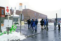 February  1986 File Photo -  Montreal city blue colar workers strike.<br /> <br /> Greve des cols bleus de la ville de Montréal en février 1986