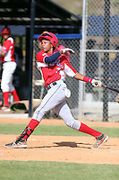 Wilmer Reyes participates in the Dominican Prospect League 2014 Louisville Slugger Tournament at the New York Yankees academy in Boca Chica, Dominican Republic on January 20-21, 2014 (Bill Mitchell)