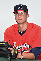 Atlanta Braves pitcher Chad Sobotka poses for a photo after an Instructional League game against the Houston Astros on September 22, 2014 at the ESPN Wide World of Sports Complex in Kissimmee, Florida.  (Mike Janes/Four Seam Images)
