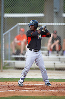 Miami Marlins Isael Soto (15) during a minor league Spring Training intrasquad game on March 31, 2016 at Roger Dean Sports Complex in Jupiter, Florida.  (Mike Janes/Four Seam Images)
