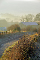 Frosty morning near Chipping, Lancashire...Copyright John Eveson 01995 61280.j.r.eveson@btinternet.com