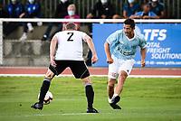 6th September 2020, Poissy,Paris, France; Football Friendly, Varietes Club de France versus Chi PSG;  Lizarazu Bixente ( Variete France ) - Martin Hayter ( Chi PSG )