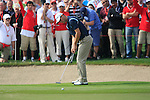 Martin Kaymer takes his putt on the 8th green during Day 3 Saturday of the Abu Dhabi HSBC Golf Championship, 22nd January 2011..(Picture Eoin Clarke/www.golffile.ie)