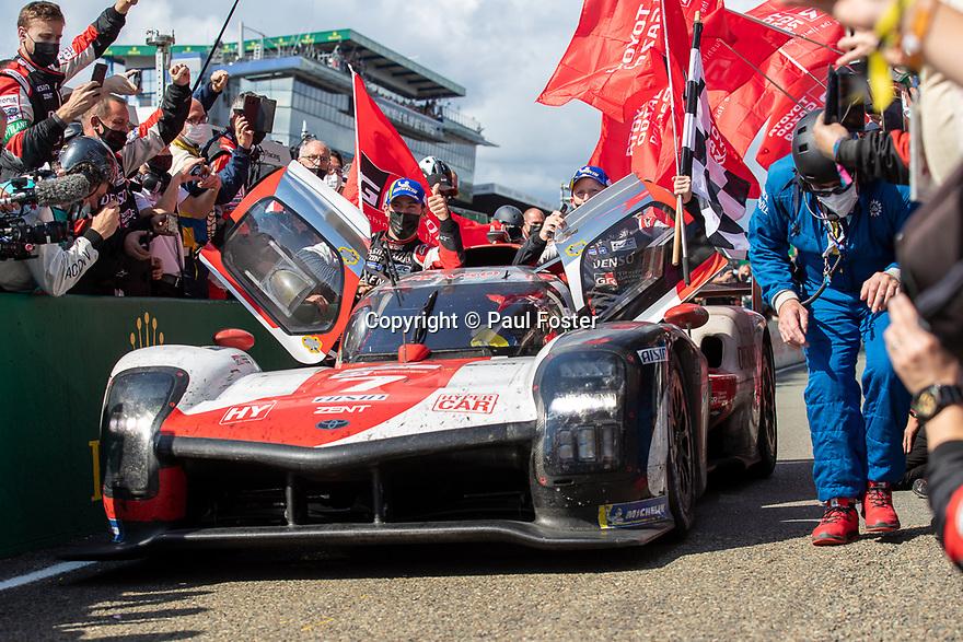 2021 Le Mans. Podium and celebrations.