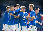 22.08.2020 Rangers v Kilmarnock: Kemar Roofe takes the acclaim after scoring for Rangers