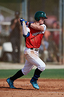 Hayden Jones (24) while playing for Team Indiana based out of Indianapolis, Indiana during the WWBA World Championship at the Roger Dean Complex on October 21, 2017 in Jupiter, Florida.  Hayden Jones is a catcher / third baseman from Huntertown, Indiana who attends Carroll High School.  (Mike Janes/Four Seam Images)
