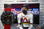 World Champion Filippo Ganna (ITA) Ineos Grenadiers wins Stage 1 of the 2021 Giro d'Italia, and individual time trial running 8.6km around Turin, Italy. 8th May 2021.  <br /> Picture: LaPresse/Marco Alpozzi   Cyclefile<br /> <br /> All photos usage must carry mandatory copyright credit (© Cyclefile   LaPresse/Marco Alpozzi)