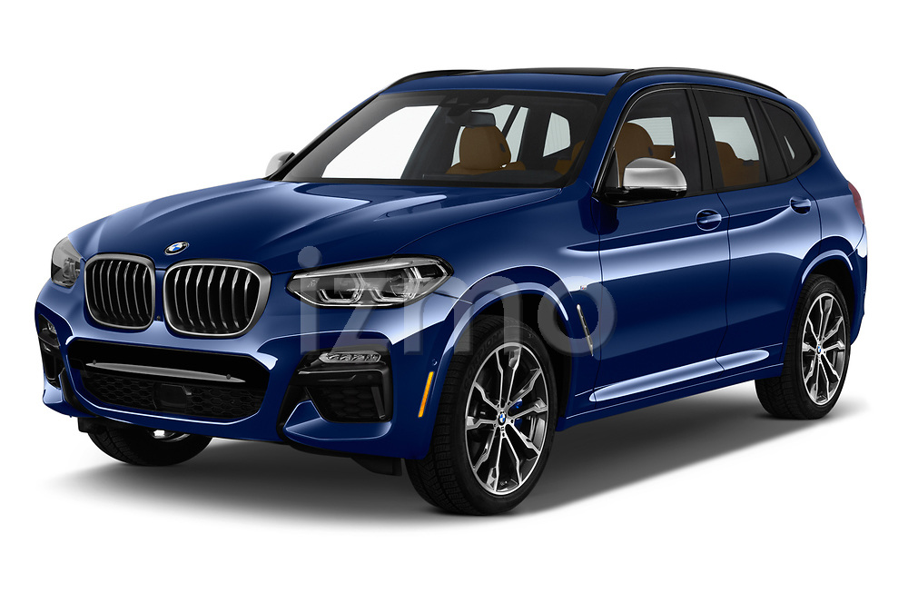 2019 BMW X3 M40i 5 Door SUV angular front stock photos of front three quarter view