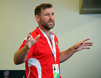 Toby Robson briefs photographers on day two of the 2017 HSBC World Sevens Series Wellington at Westpac Stadium in Wellington, New Zealand on Sunday, 29 January 2017. Photo: Dave Lintott / lintottphoto.co.nz