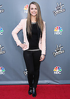 """UNIVERSAL CITY, CA, USA - APRIL 15: Bria Kelly at NBC's """"The Voice"""" Season 6 Top 12 Red Carpet Event held at Universal CityWalk on April 15, 2014 in Universal City, California, United States. (Photo by Xavier Collin/Celebrity Monitor)"""