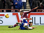 29.02.2020 Hearts v Rangers: Connor Goldson and Sean Clare