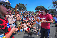 Fans on the embankment during day two of the second International Test Cricket match between the New Zealand Black Caps and West Indies at the Basin Reserve in Wellington, New Zealand on Friday, 11 December 2020. Photo: Dave Lintott / lintottphoto.co.nz