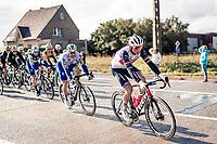 eventual race winner Mads Pedersen (DEN/Trek-Segafredo) en route<br /> <br /> 82nd Gent-Wevelgem in Flanders Fields 2020 (1.UWT)<br /> 1 day race from Ieper to Wevelgem (232km)<br /> <br /> ©kramon