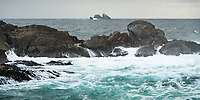 Nee Islets at Doubtful Sound entrance, Fiordland National Park, UNESCO World Heritage Area, Southland, New Zealand, NZ