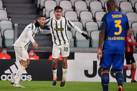 Cristiano Ronaldo of Juventus FC celebrates with Paulo Dybala after scoring the goal of 1-0 during the Serie A football match between Juventus FC and Udinese Calcio at Juventus stadium in Torino  (Italy), January, 3rd 2021.  Photo Federico Tardito / Insidefoto