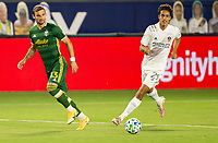 CARSON, CA - OCTOBER 07: Dario Zuparic #13 of the Portland Timbers and Ethan Zubak #29 of the Los Angeles Galaxy ball watching during a game between Portland Timbers and Los Angeles Galaxy at Dignity Heath Sports Park on October 07, 2020 in Carson, California.
