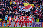 Players of Atletico Madrid celebrates during the UEFA Europa League quarter final leg one match between Atletico Madrid and Sporting CP at Wanda Metropolitano on April 5, 2018 in Madrid, Spain. Photo by Diego Souto / Power Sport Images
