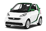 2016 Smart fortwo electric 2 Door Convertible Angular Front stock photos of front three quarter view