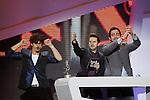Spanish actors Antonio Pagudo, Julian Lopez and Pablo Chiapella  during the awards gala '40 Principales 2012'..(Alterphotos/Acero)