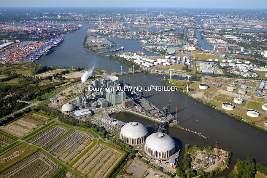 Kraftwerk Moorburg: EUROPA, DEUTSCHLAND, HAMBURG, (EUROPE, GERMANY), 31.08.2016: Kohlekraftwerk Moorburg an der Suederelbe.