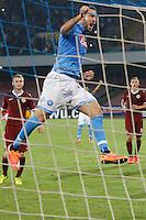 Esultanza di Gonzalo Higuain Napoli, goal celebration <br /> Napoli 18-09-2014 Stadio San Paolo <br /> Football Calcio UEFA Europa League Group I. Napoli - Sparta Praga.<br /> Foto Cesare Purini / Insidefoto