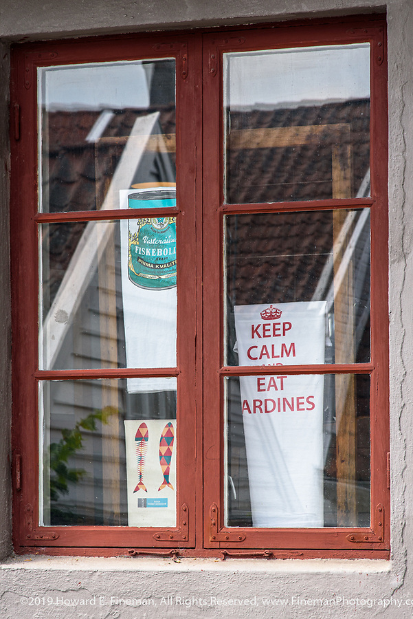 Keep Calm and Eat Sardines - former cannery before discovery of North Sea Oil