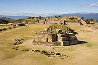 Monte Alban, Oaxaca, Mexico.  Zapotec Capital Ruins, 300A.D.-700A.D.