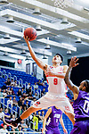Ho Yee Fu #9 of Nam Ching Basketball Team tries to score against the HKPA during the Hong Kong Basketball League game between Nam Ching and  HKPA at Southorn Stadium on June 12, 2018 in Hong Kong. Photo by Yu Chun Christopher Wong / Power Sport Images