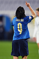 Daniela Sabatino of Italy celebrates after scoring a goal during the Women s EURO 2022 qualifying football match between Italy and Israel at stadio Carlo Castellani in Empoli (Italy), February, 24th, 2021. Photo Image Sport / Insidefoto