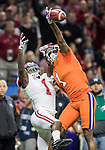 Clemson Tigers cornerback Trayvon Mullen (1) blocks a pass intended for Alabama Crimson Tide wide receiver Robert Foster (1) in the first half of the Allstate Sugar Bowl at the Mercedes-Benz Superdome on January 1, 2018 in New Orleans. Photo by Mark Wallheiser/UPI