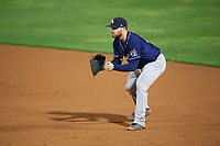 New Hampshire Fisher Cats first baseman Ryan McBroom (20) during a game against the Altoona Curve on May 11, 2017 at Peoples Natural Gas Field in Altoona, Pennsylvania.  Altoona defeated New Hampshire 4-3.  (Mike Janes/Four Seam Images)