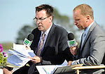 10 March 13: TVG network was present ready to broadcast the 12th running of the grade 3 Hillsborough Stakes for fillies and mares three years old and upward at Tampa Bay Downs in Tampa, Florida.