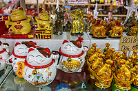 Souvenirs in Kek Lok Si Buddhist Temple Gift Shop, George Town, Penang, Malaysia.
