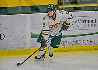 13 February 2015: University of Vermont Catamount Forward Sarah Kelly, a Sophomore from Vestal, NY, in second period action against the University of New Hampshire Wildcats at Gutterson Fieldhouse in Burlington, Vermont. The Lady Catamounts fell to the visiting Wildcats 4-2 in the first game of their weekend Hockey East series. Mandatory Credit: Ed Wolfstein Photo *** RAW (NEF) Image File Available ***