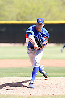 Chris Huseby, Chicago Cubs 2010 minor league spring training..Photo by:  Bill Mitchell/Four Seam Images.