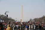 Atmosphere on the Mall during the 56th Presidential Inauguration Ceremony & the swearing in of President Barack Obama at the US Capitol in Washington, DC, on January 20, 2009.