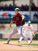 Riverview Sarasota Rams pitcher Karson Ligon (6) during the 42nd Annual FACA All-Star Baseball Classic on June 5, 2021 at Joker Marchant Stadium in Lakeland, Florida.  (Mike Janes/Four Seam Images)