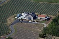 aerial photograph of the Mira Winery, Napa, California