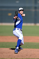 Kansas City Royals pitcher Cole Way (60) during an Instructional League game against the Cincinnati Reds on October 14, 2014 at Goodyear Training Facility in Goodyear, Arizona.  (Mike Janes/Four Seam Images)