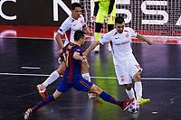 9th October 2020; Palau Blaugrana, Barcelona, Catalonia, Spain; UEFA Futsal Champions League Finals; FC Barcelona versus MFK KPRF;  Niyazpv